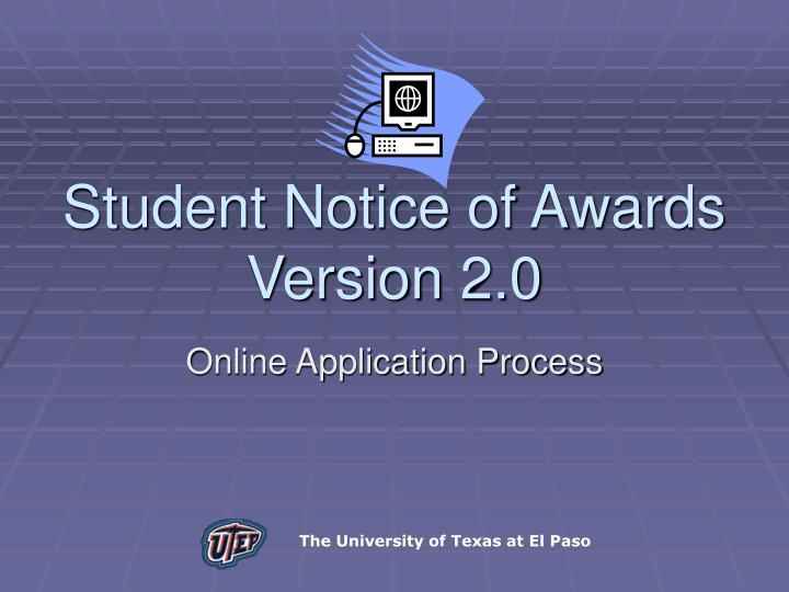 Student Notice of Awards