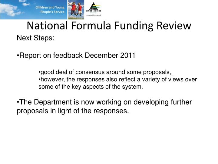 National Formula Funding Review