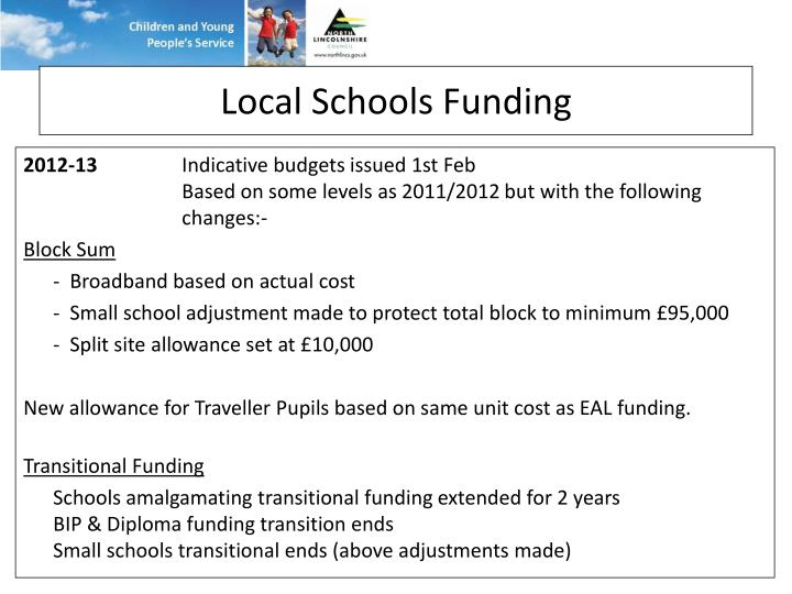 Local Schools Funding