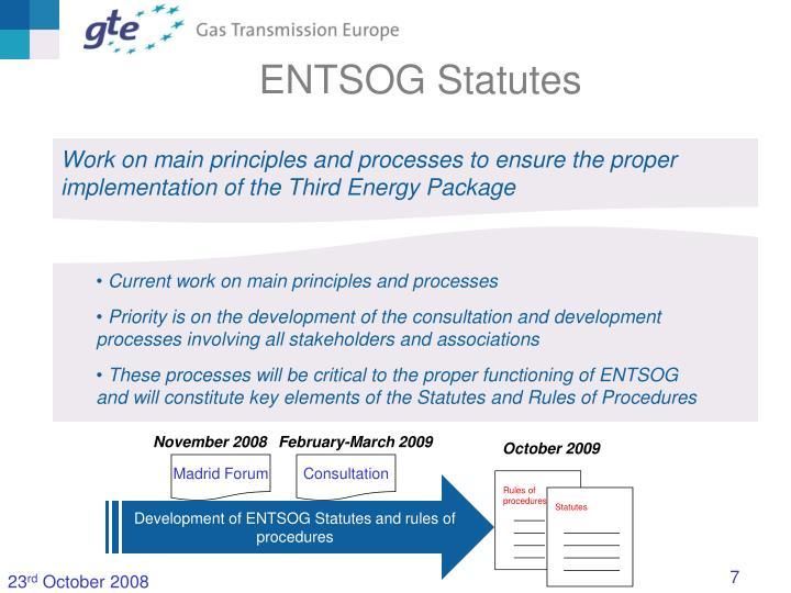 ENTSOG Statutes