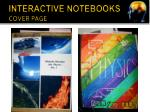 interactive notebooks cover page
