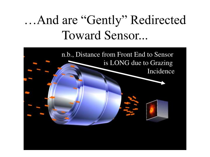 "…And are ""Gently"" Redirected Toward Sensor..."