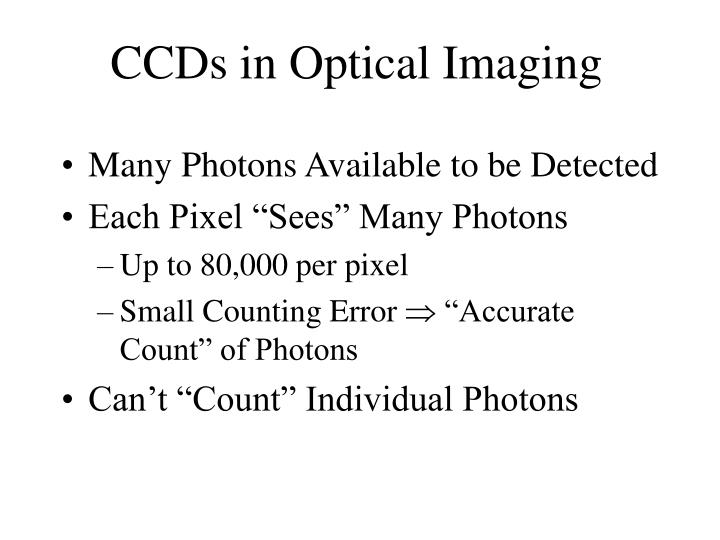 CCDs in Optical Imaging