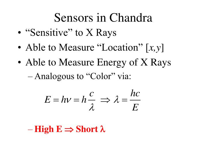 Sensors in Chandra