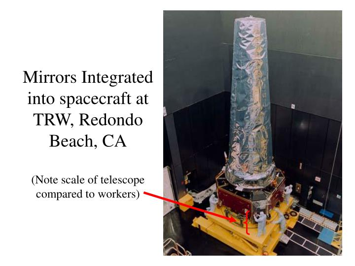 Mirrors Integrated into spacecraft at TRW, Redondo Beach, CA