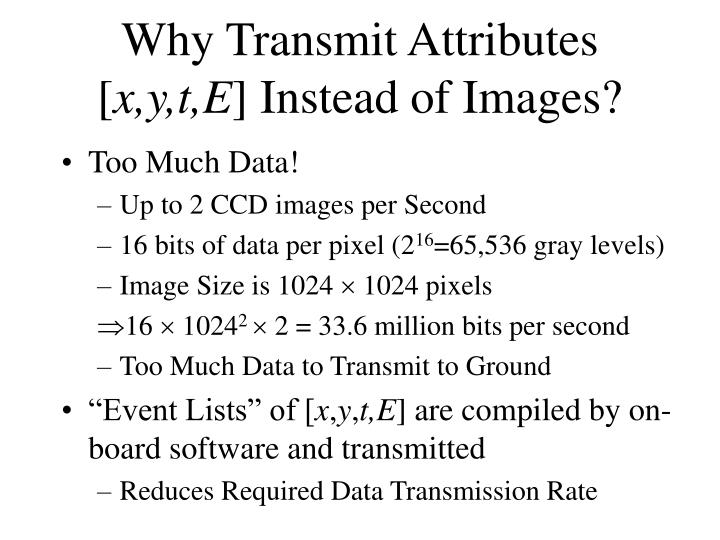 Why Transmit Attributes [