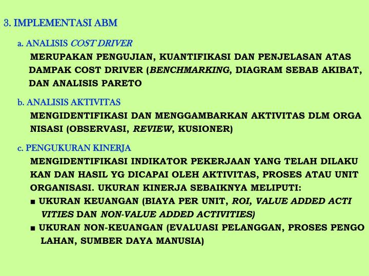 3. IMPLEMENTASI ABM