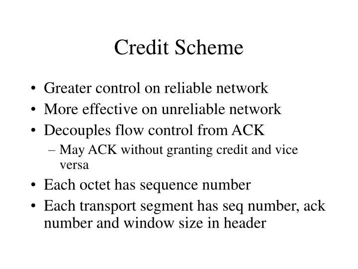 Credit Scheme