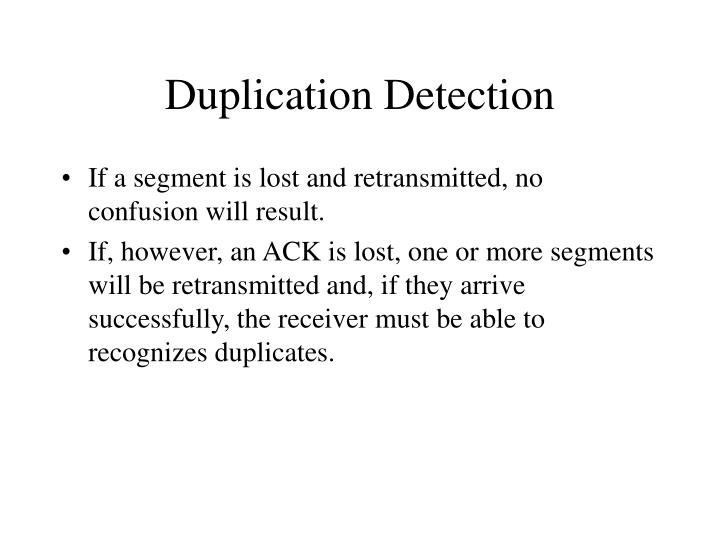 Duplication Detection