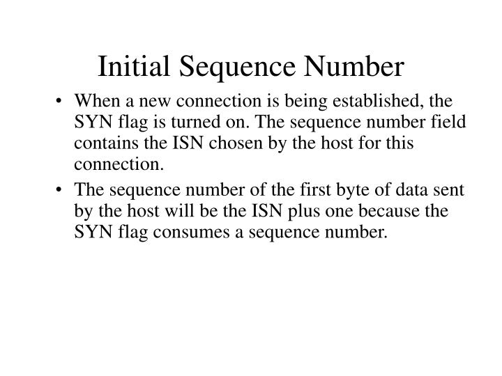 Initial Sequence Number