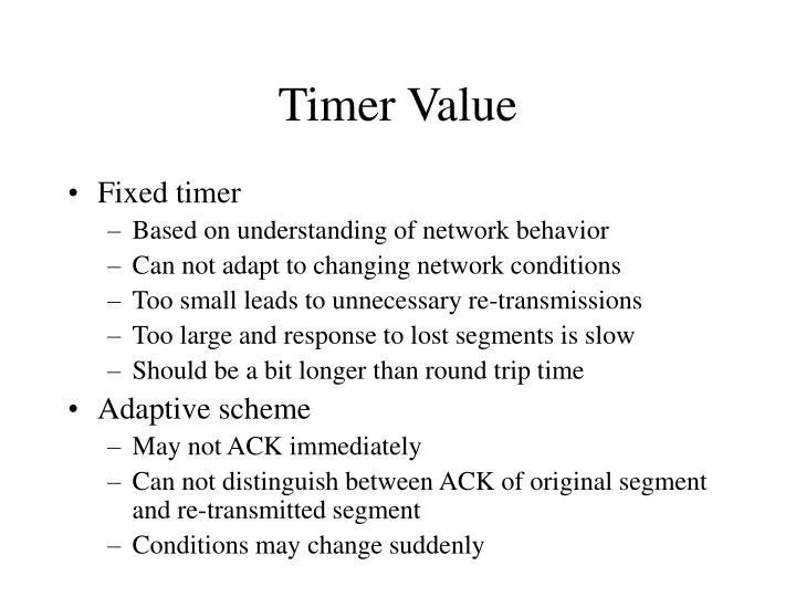 Timer Value