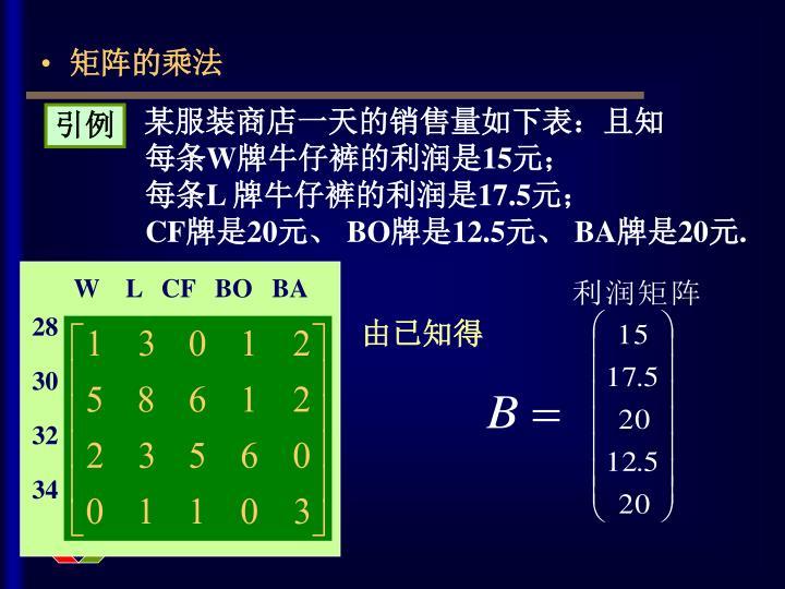 矩阵的乘法