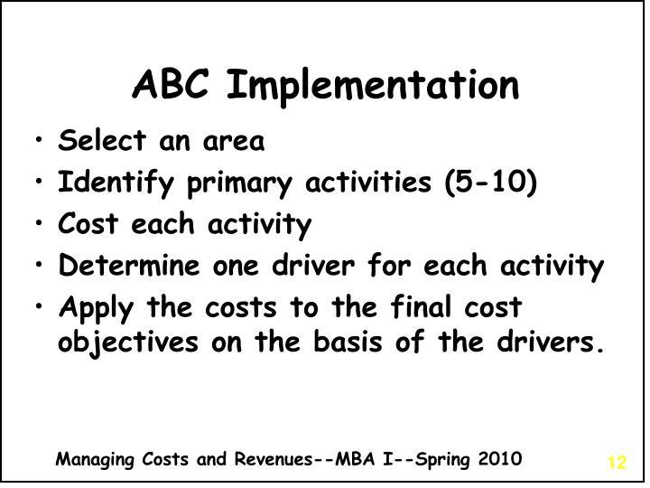 ABC Implementation