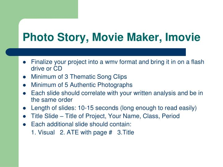 Photo story movie maker imovie