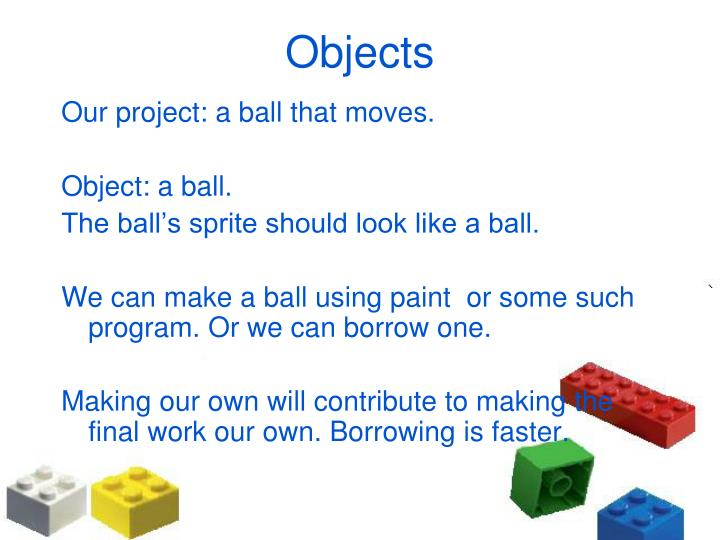 Our project: a ball that moves.