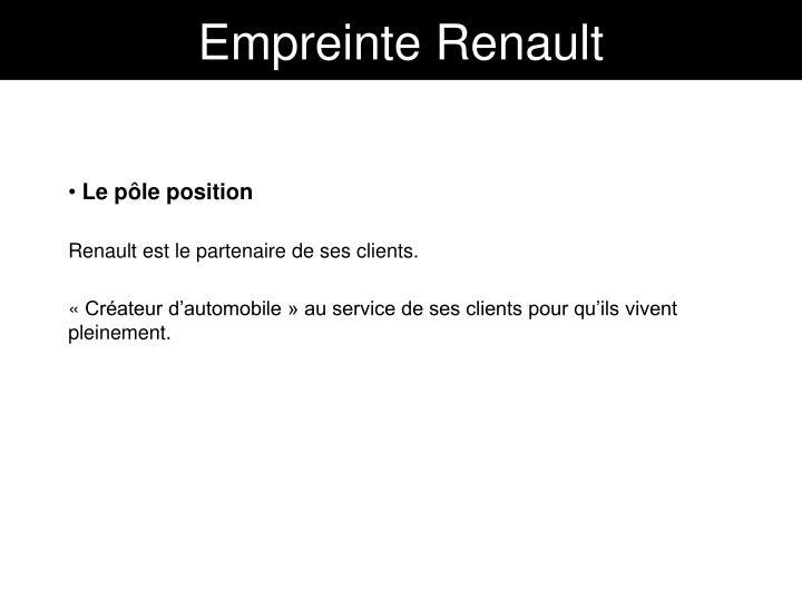 Empreinte Renault