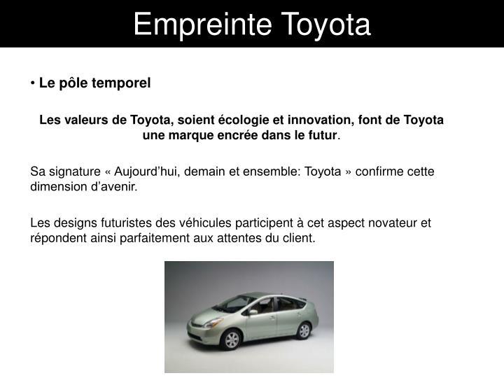Empreinte Toyota
