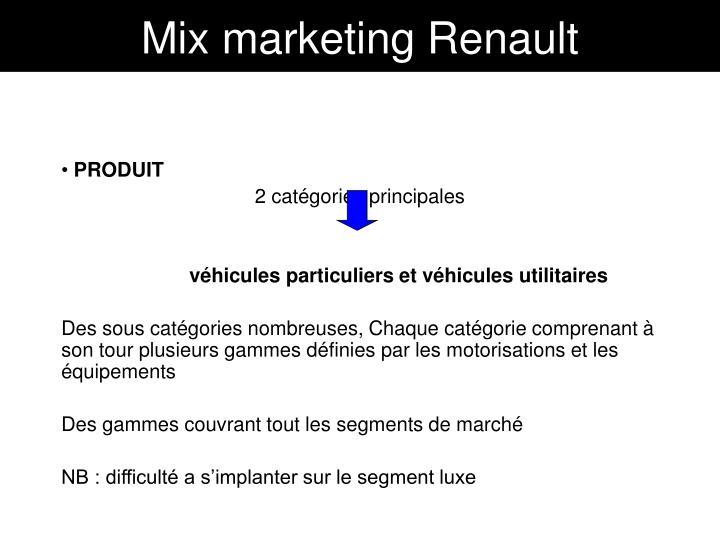 Mix marketing Renault