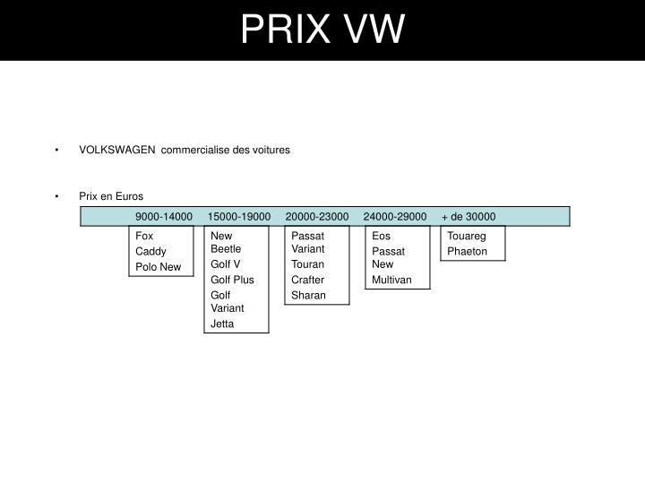 PRIX VW