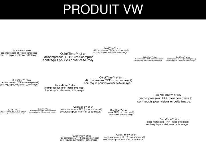 PRODUIT VW