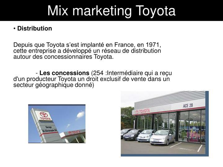 Mix marketing Toyota