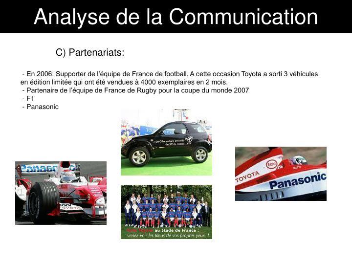 Analyse de la Communication