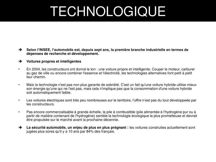 TECHNOLOGIQUE