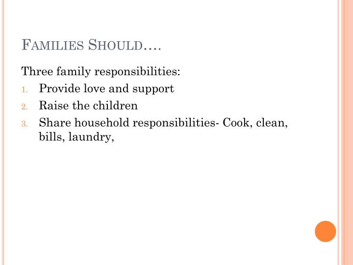 Families Should….