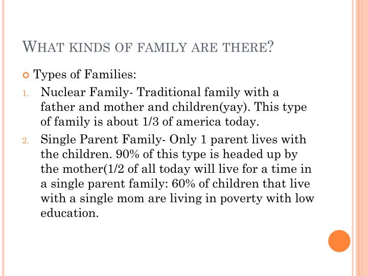 What kinds of family are there?