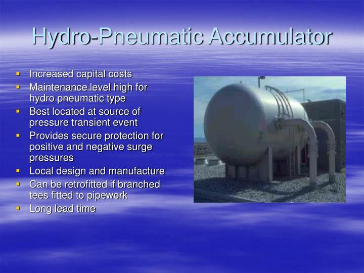 Hydro-Pneumatic Accumulator