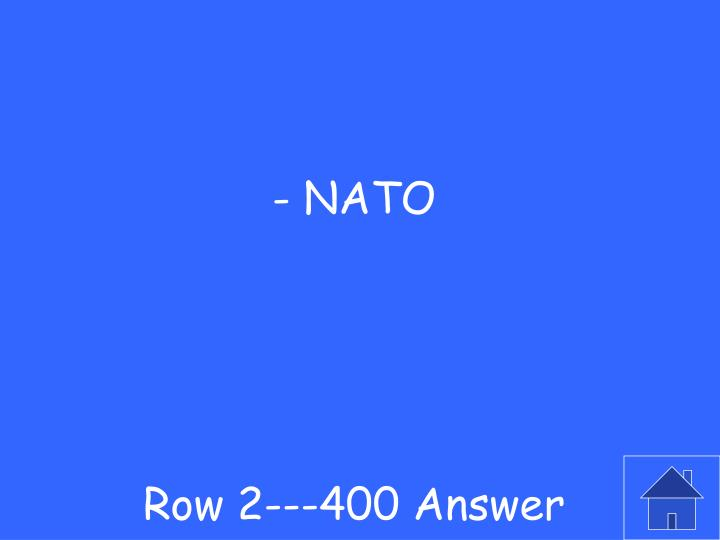 Row 2---400 Answer