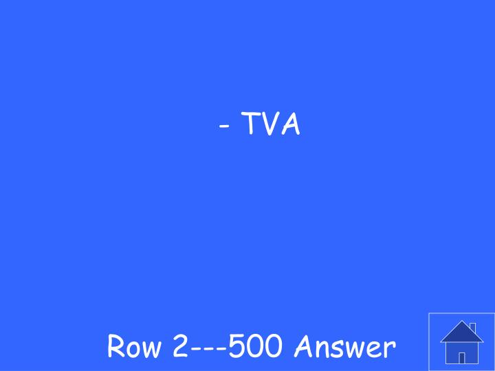 Row 2---500 Answer