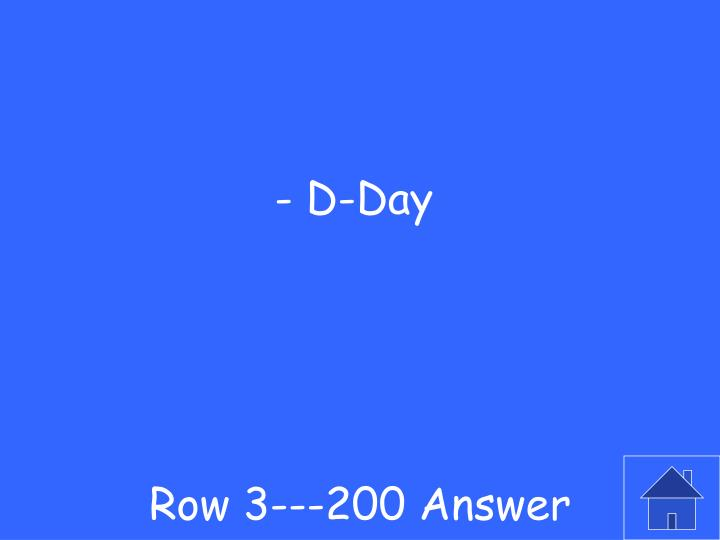Row 3---200 Answer