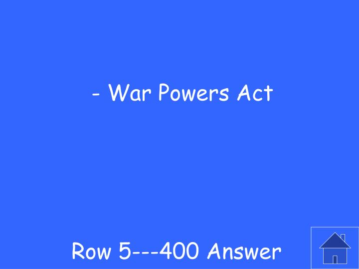 Row 5---400 Answer