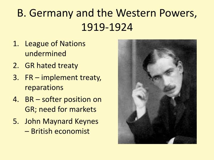 B germany and the western powers 1919 1924