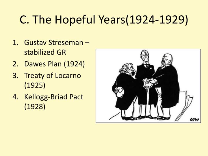 C. The Hopeful Years(1924-1929)