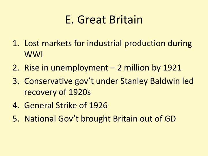 E. Great Britain