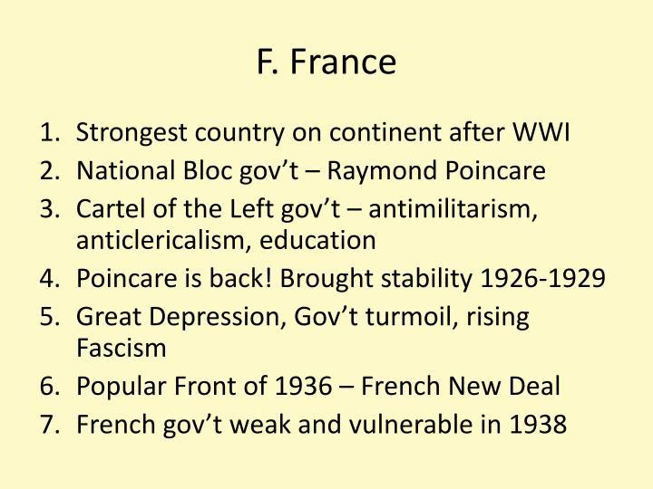F. France