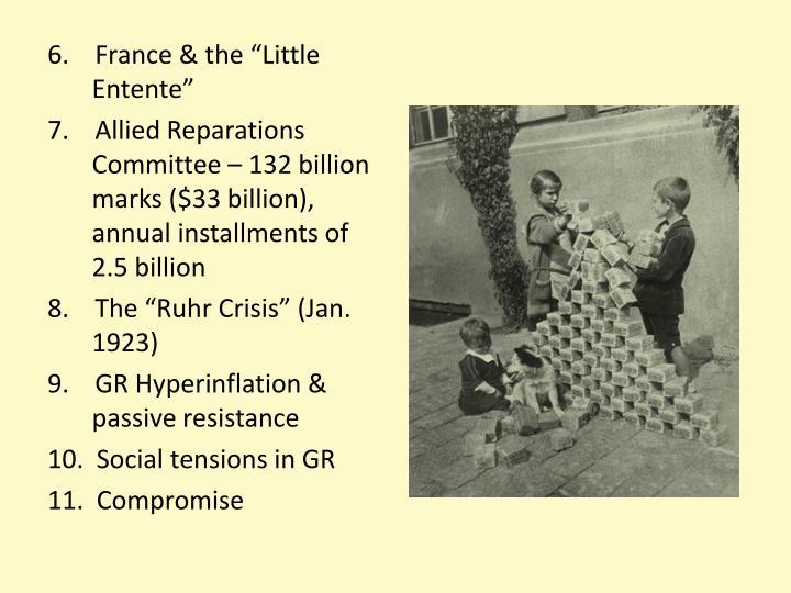 """6.    France & the """"Little Entente"""""""