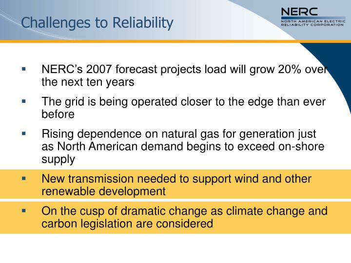 Challenges to Reliability