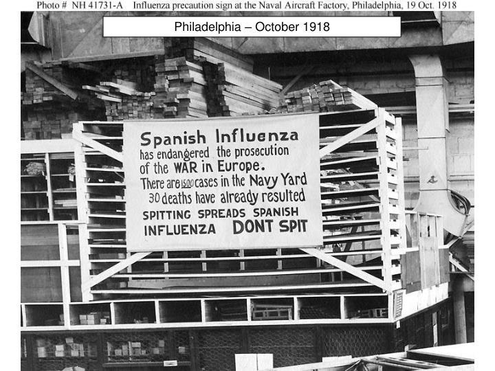 Philadelphia – October 1918