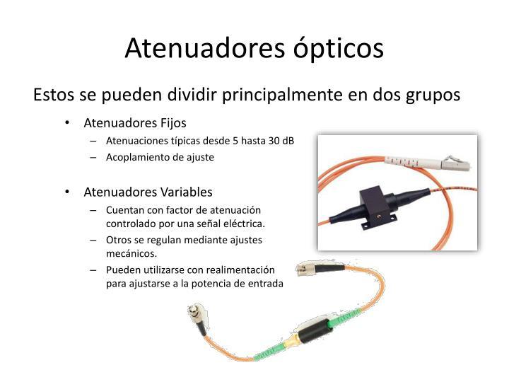 Atenuadores ópticos