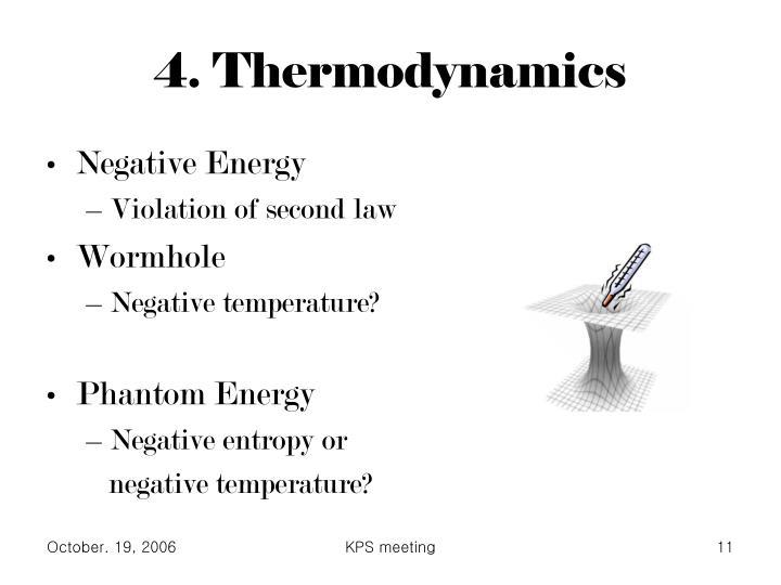 4. Thermodynamics
