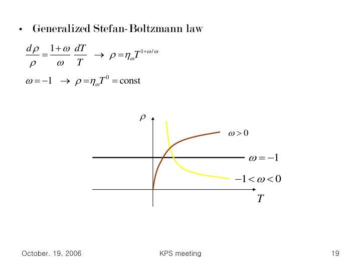 Generalized Stefan-Boltzmann law