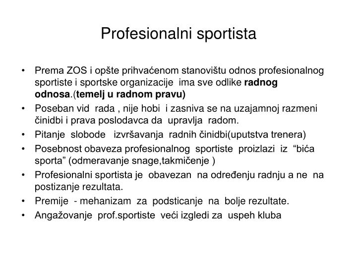 Profesionalni sportista