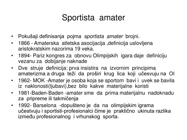 Sportista  amater