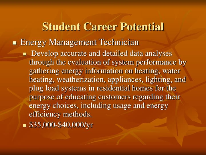 Student Career Potential
