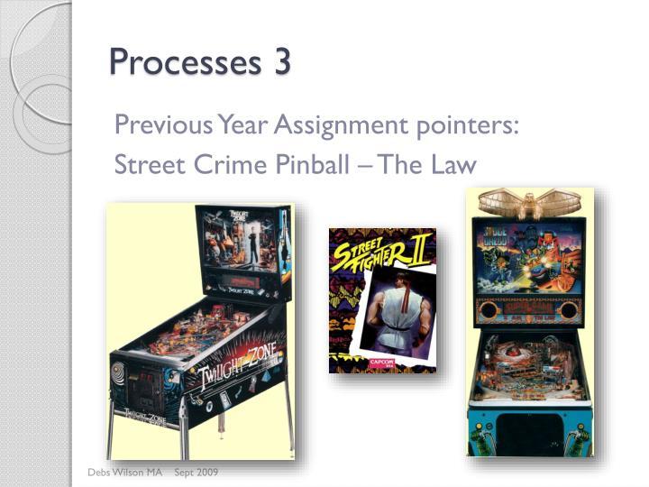 Processes 3