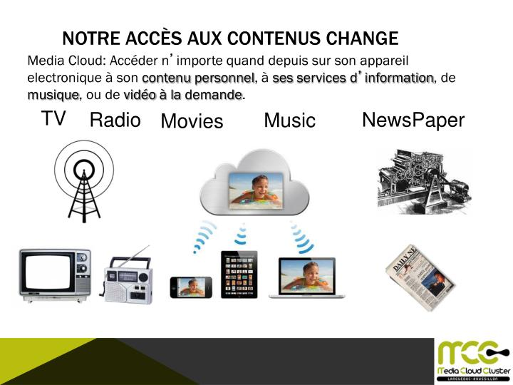 NOTRE ACCÈS AUX CONTENUS CHANGE