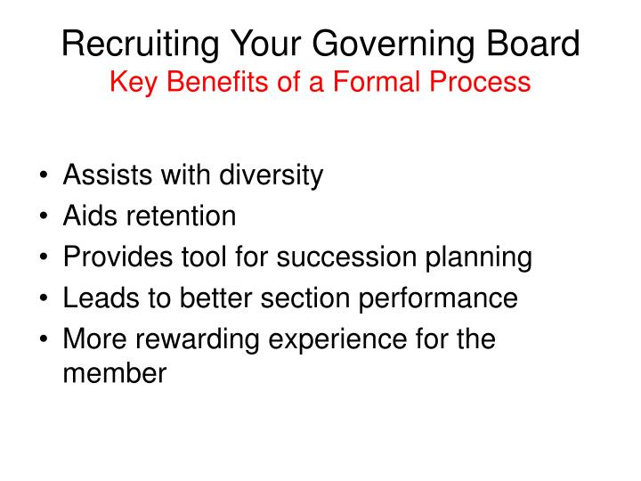 Recruiting Your Governing Board